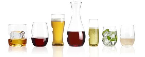 premium stemless plastic glassware collection