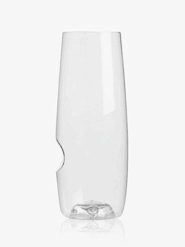 stemless drinks flute plastic unbreakable