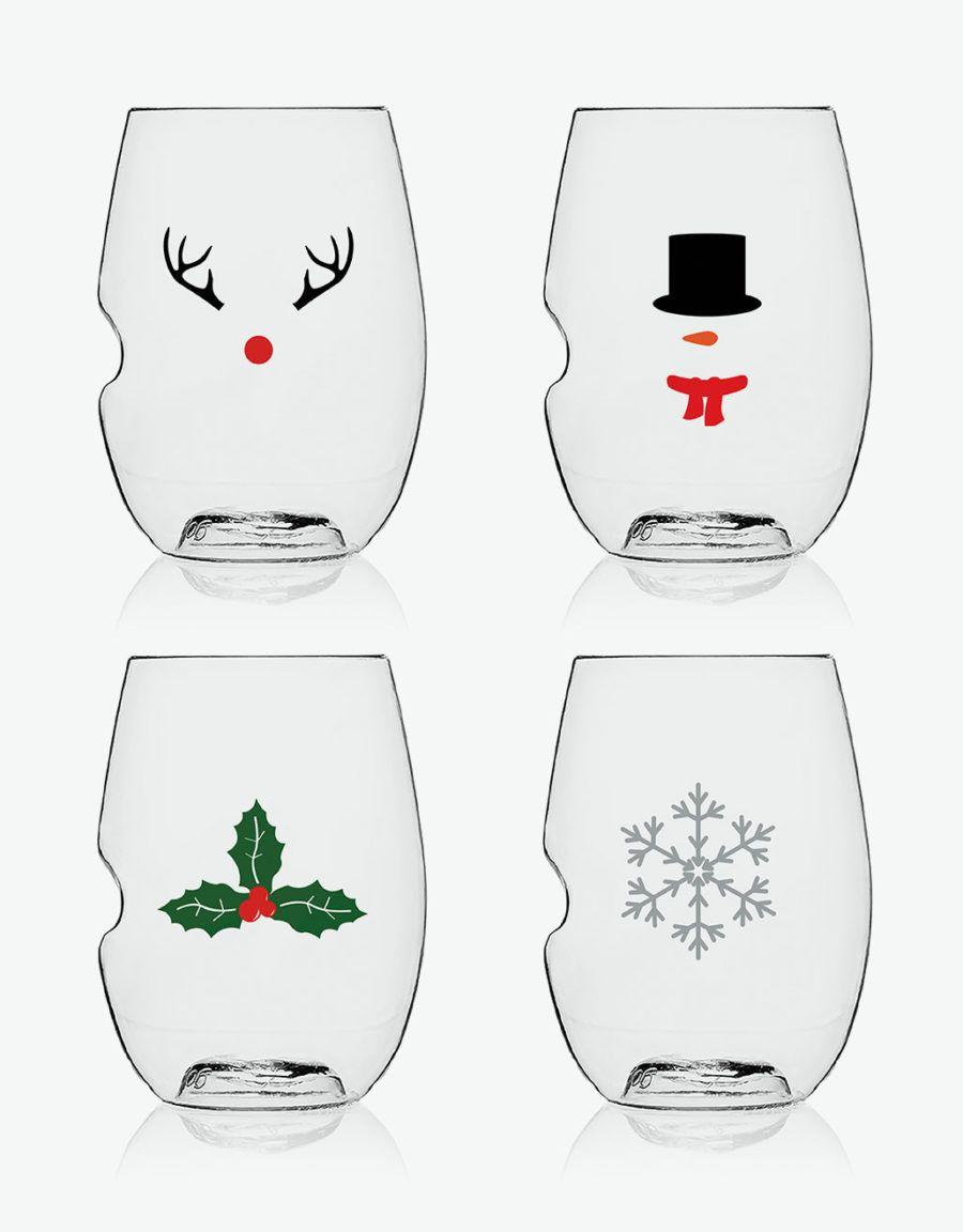 festive christmas wine glasses gift