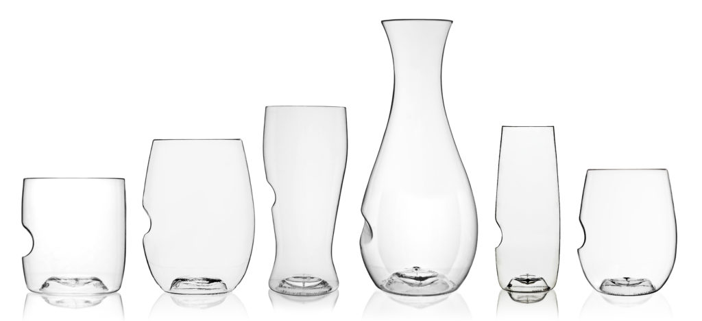 collection of beer wine cocktail whisky tumbler decanter